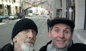 Dave and Gordon selfie in Brussels (where Obama?)